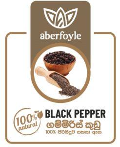 Black pepper product label