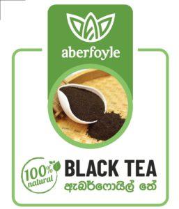 aberfoyle black Tea product label