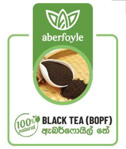 Aberfoyle Ceylon Tea BOPF label