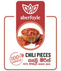 Aberfoyle chili pieces product label